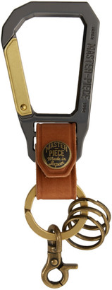 Master-piece Co Master Piece Co Tan Carabiner Keychain
