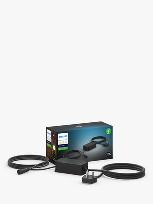 Philips Hue Low Voltage Outdoor Power Supply Extension Cable, Black