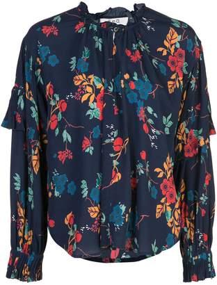 Sea ruffle blouse
