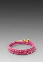 Juicy Couture Double Wrap Leather Bracelet