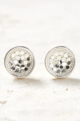 Anna Beck Silver Dish Stud Earrings Silver