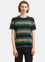 Missoni Block Striped T-shirt In Green