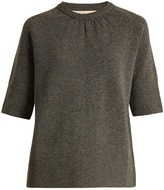 Marni Contrast-back short-sleeved cotton-blend sweater