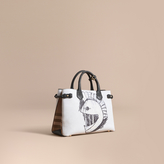 Burberry The Medium Banner in Leather with Pallas Helmet Motif