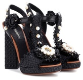 Dolce & Gabbana Embellished rafia sandals
