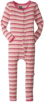 Kickee Pants Print Fitted Coverall (Toddler) - Forest Stripe - 4T