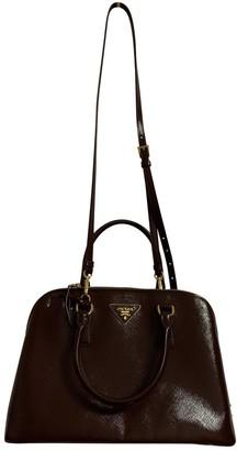 Prada Promenade Burgundy Leather Handbags