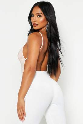 boohoo Backless Strappy Slinky Bodysuit