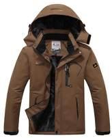 American Trends Men's Waterproof Mountain Jacket Fleece Hooded Ski Jacket