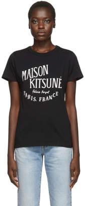 MAISON KITSUNÉ Black Palais Royal T-Shirt