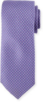 Neiman Marcus English Woven Silk Tie, Purple
