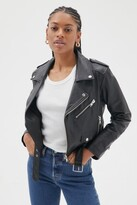 Thumbnail for your product : Deadwood Joan Leather Cropped Moto Jacket