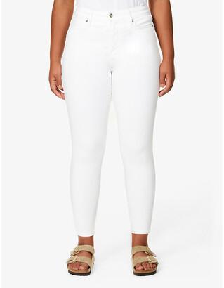 Good American Good Legs Crop skinny high-rise jeans