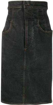 Jean Paul Gaultier Pre-Owned 1990s Super-High Waist Denim Skirt