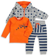 Petit Lem Baby Boys Robotic Jacket, Tee and Jogger Pants