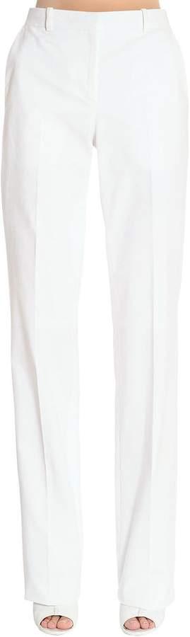 Givenchy Stretch Cotton Wide Leg Pants