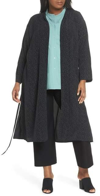 Belted Long Kimono Jacket (Plus Size)