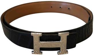 Hermã ̈S HermAs H Black Crocodile Belts