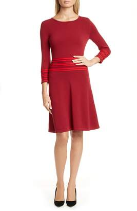 HUGO Sandreyya Fit & Flare Knit Dress