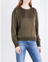 Theory Massar silk-satin sweatshirt