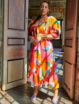 Thumbnail for your product : ELOQUII Puff Sleeve Maxi Dress