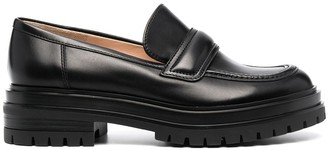 Gianvito Rossi Leather Ridged-Sole Brogues
