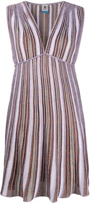 M Missoni striped metallic-knit dress
