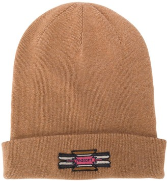 Isabel Marant Logo-Patch Knitted Beanie