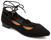 Mossimo Women's Kady Wide Width Ghillie Pointed Toe Lace Up Ballet Flats