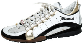 DSQUARED2 Multicolor Leather, Mesh And Suede Kick It Logo 551 Sneakers Size 44