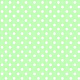686 SheetWorld Fitted Basket Sheet - Pastel Green Polka Dots Woven - Made In USA - 13 inches x 27 inches (33 cm x cm)