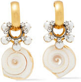 Thumbnail for your product : Elizabeth Cole 24-karat Gold And Hematite-plated Multi-stone Earrings