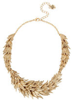 Betsey Johnson Layered Feather Collar Necklace