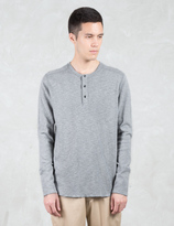 Wings + Horns 1 X 1 Slub Rib L/S Henley T-Shirt