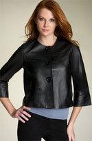 Karen Kane Crop Leather Jacket