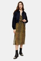 Topshop Womens Considered Navy Organic Cotton Jacket - Navy Blue