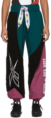 Pyer Moss Reebok By Reebok by Green and Black Collection 3 Sherpa Lounge Pants
