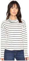 Splendid Dune Stripe Crop Turtleneck Women's Long Sleeve Pullover