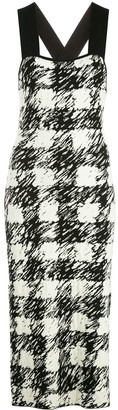 Proenza Schouler White Label Gingham Pattern Knit Dress