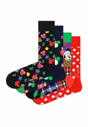 Happy Socks Unisex Socks Disney Gift Box Pack of 4 Size UK 3-6 EUR 36-40