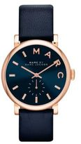 Marc Jacobs Baker Rose Goldtone Stainless Steel & Leather Strap Watch/Navy