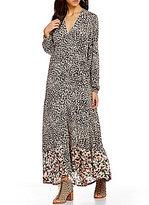 Billabong Allegra Border Print Kimono Maxi Dress