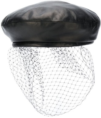 Balmain Leather Beret