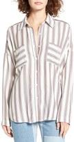 BP Women's Stripe Button Front Shirt