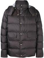 Moncler Gamme Bleu hooded padded jacket - men - Cotton/Feather Down/Polyamide/Cupro - 4