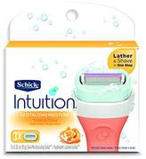 Schick Intuition Revitalizing Moisture Razor Blade Refills for Women with Tropical Citrus Extracts - 3 Count