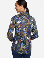 J.Mclaughlin Lois Shirt in Midnight Floral