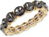 Kenneth Cole New York Gold-Tone Black Stone Stretch Bracelet