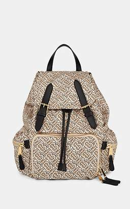 Burberry Women's Monogram Polished Twill Backpack - Beige, Tan