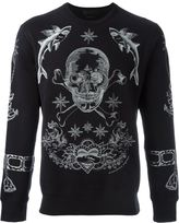 Alexander McQueen tattoo skull embroidered sweatshirt